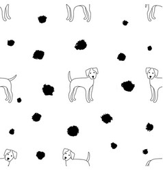 Pattern dogs vector