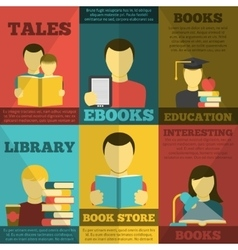 Reading Poster Set vector image