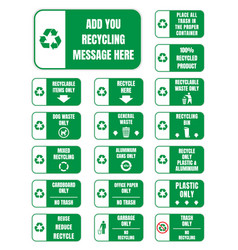 recycle symbols and signs vector image