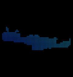 Round dot crete island map vector