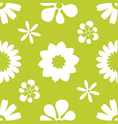 Seamless floral pattern repeated flowers and vector