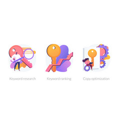 Seo keywords concept metaphors vector