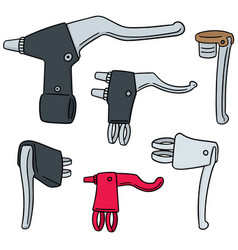 set of bicycle brake lever vector image