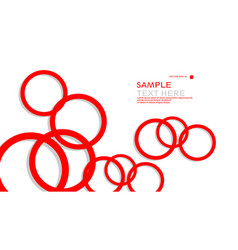 simple circles background with color red and vector image
