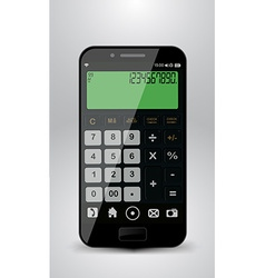 Smartphone with calculator vector image