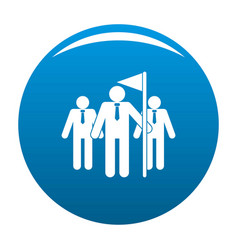 teamwork competition icon blue vector image