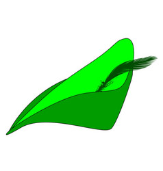 The feather cap of robin hood vector