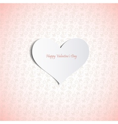 Valentines Day card eps10 vector image vector image