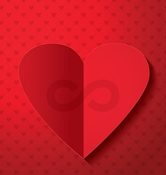 Valentines day infinity sign vector image