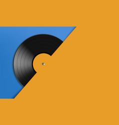 vinyl record disc music background vector image