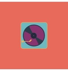 Vinyl record player vector