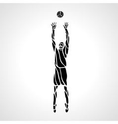 Volleyball setter silhouette vector