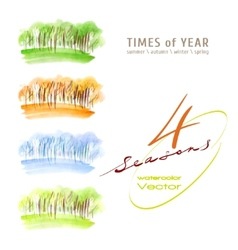 Watercolor seasons vector image