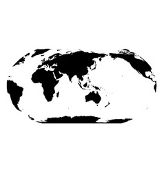 World map in robinson projection asia and vector