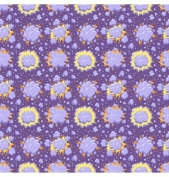 Boom icons seamless pattern explosion vector image vector image