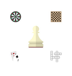 flat icon entertainment set of chess table ace vector image vector image