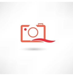 Red line camera vector image vector image