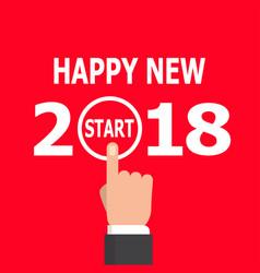 start new year 2018 idea vector image vector image
