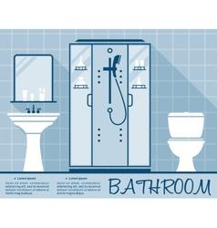 Bathroom design infographic flat template vector image