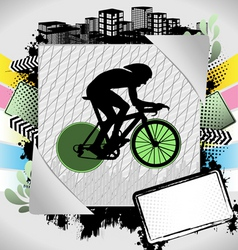 cyclist summer frame vector image vector image