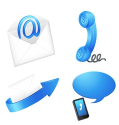 Digital Telecommunication Icons vector image vector image