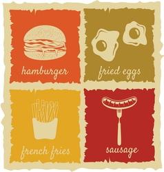 Set of Vintage Food Labels vector image vector image