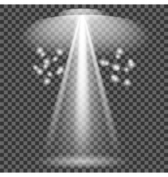 Set of White Spotlights vector image vector image