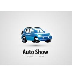 SUV logo design template transport or car icon vector image