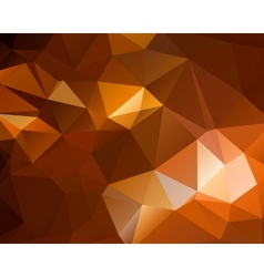 Abstract brown shiny polygon background vector image vector image