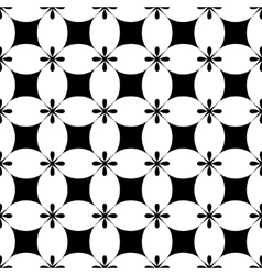 Flower and rhombus seamless pattern vector image vector image