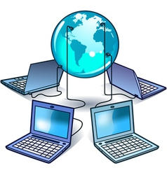 global computer network vector image vector image