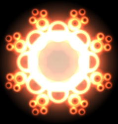 Hot snowflake vector image