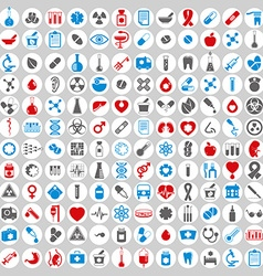 Medical icons set set of 144 medical and medicine vector image vector image