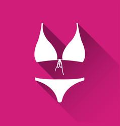 simple female swimsuit icon bikini symbol vector image