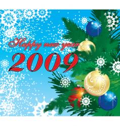 winter christmas background vector image