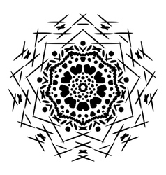 Abstract isolated mandala ornament vector image vector image