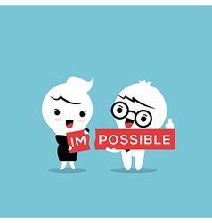 impossible cartoon vector image vector image