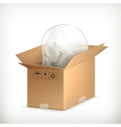 Light bulb in box vector image
