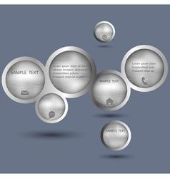 Metallic style web design bubble vector image vector image