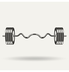 monochrome fitness icon vector image vector image