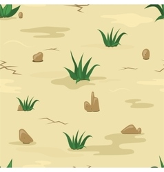 Sand texture with stones and grass vector image