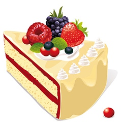 white vanilla cake vector image vector image