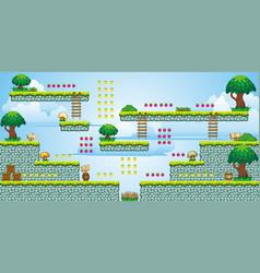2d tileset platform game 47 vector