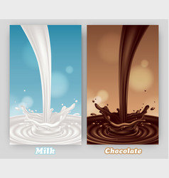 Abstract background with milk and chocolate vector