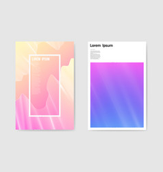 Abstract poster futuristic grid background fluid vector