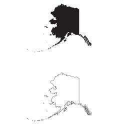 Alaska ak state map usa vector