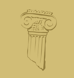 antique column old ruins capital vector image