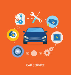 Auto mechanic service flat icons maintenance vector