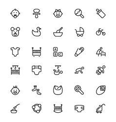 Baline icons 1 vector