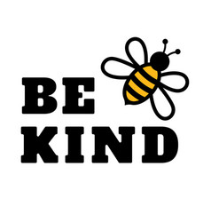 Be kind bee text or phrase lettering for vector